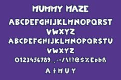 Mummy Maze - Halloween Display Font Product Image 6