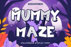 Mummy Maze - Halloween Display Font Product Image 1