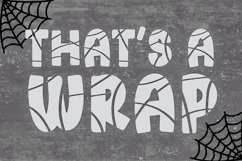 MUMMY Halloween Bandage Font Product Image 3