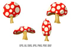 12 Cartoon Mushroom llustrations SVG, JPG, EPS, AI, PNG, Etc Product Image 4