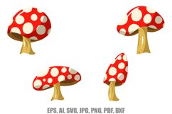 12 Cartoon Mushroom llustrations SVG, JPG, EPS, AI, PNG, Etc Product Image 3