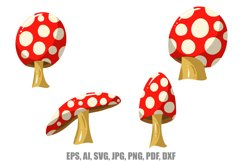 12 Cartoon Mushroom llustrations SVG, JPG, EPS, AI, PNG, Etc Product Image 2