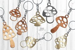 Mushroom Keychain SVG Glowforge Necklace Laser Cut Files Product Image 1
