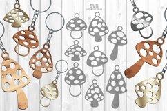 Mushroom Keychain SVG Glowforge Necklace Laser Cut Files Product Image 2