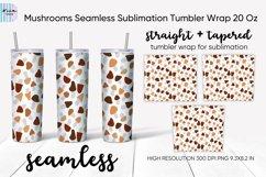 Mushrooms Seamless Sublimation Tumbler Wrap 20 Oz Product Image 1