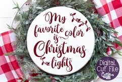 Christmas Svg, My Favorite Color Is Christmas Lights Svg Product Image 1