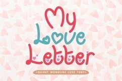 My Love Letter - Quirky Monoline Love Font Product Image 1