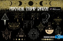 Mystical Procreate Brush Stamp. Magic Boho Witch Stamps. Product Image 1