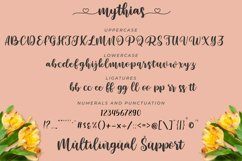 Mythias | A Natural Handwritten Calligraphy Font Product Image 6