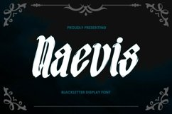 Web Font Naevis - Blackletter Font Product Image 1