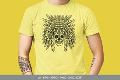 Native American Skull Papercut SVG Product Image 2