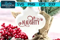 Naughty SVG Cut File | Christmas SVG Cut File Product Image 1