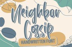 Neighbor Gossip - Handwritten Font Product Image 1