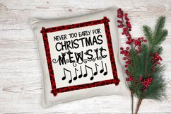Christmas Cat Sublimation Design   Christmas Mewsic Product Image 2
