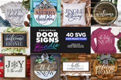 40 Door Signs Bundle | BEST SELLER |Christmas SVG Product Image 3