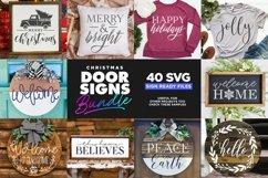 40 Door Signs Bundle | BEST SELLER |Christmas SVG Product Image 4