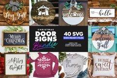 40 Door Signs Bundle | BEST SELLER |Christmas SVG Product Image 5