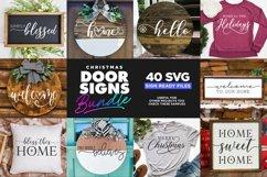 40 Door Signs Bundle | BEST SELLER |Christmas SVG Product Image 6