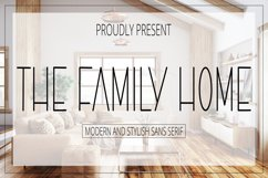 The Family Home - Modern and Stylish Sans Serif Font Product Image 1