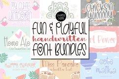 Fun and Playful Handwritten Font Bundles - Best Seller Font Product Image 1