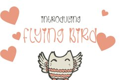Flaying Birds - Cute and Quirky Handwritten Font Product Image 1