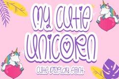 My Cutie Unicorn - Cute Display Font Product Image 1