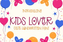 Kids Lover - Cute Handwritten Font Product Image 1