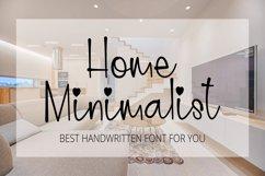 Home Minimalist - Beauty Handwritten Font Product Image 1