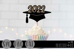 2022 Graduation cap, Cake topper, SVG, PNG, DXF Product Image 1