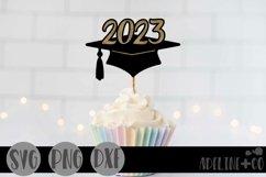 2023 Graduation cap, Cake topper, SVG, PNG, DXF Product Image 1