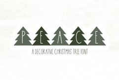 Peace Trees - Decorative Christmas Font Product Image 1