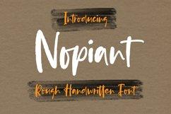 Nopiant - Rough HandWritten Font Product Image 1