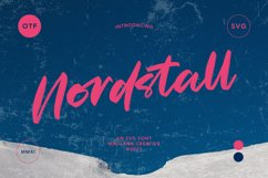 Nordstall SVG Brush Font Product Image 1