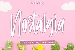 Nostalgia - Cute Handwritten Font Product Image 1
