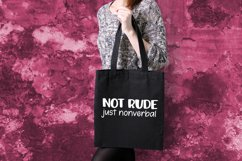 Not Rude Just Nonverbal Autism SVG for T-Shirt or Tote Bag Product Image 4