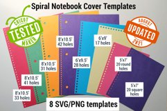 Notebook Cover templates | Spiral notebook cut files SVG Product Image 1