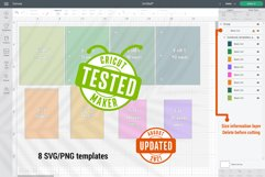 Notebook Cover templates | Spiral notebook cut files SVG Product Image 2