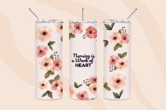 Nurse tumbler sublimation designs 20oz skinny tumbler design Product Image 4