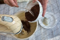 The process of making a chocolate cake. Product Image 5