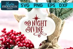 O Night Divine SVG Cut File | Christmas SVG Cut File Product Image 1