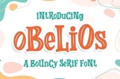 Obelios a Bouncy Serif Font Product Image 1