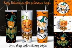 Happy Halloween tumbler sublimation Product Image 1