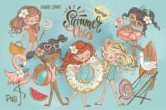 Girls weekend clipart Png. Travel clipart. Kids beach summer Product Image 1