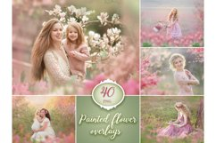 40 Painted Flowers Photo Overlays Product Image 1