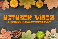 Web Font October Vibes - A Groovy Handlettered Font Product Image 1
