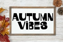 Web Font October Vibes - A Groovy Handlettered Font Product Image 2
