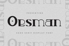 Web Font Oesman Product Image 1