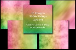 Ombre Green and Pink Backgrounds - 12 Image Set Product Image 2
