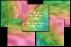Ombre Green and Pink Backgrounds - 12 Image Set Product Image 3