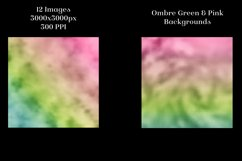 Ombre Green and Pink Backgrounds - 12 Image Set Product Image 4